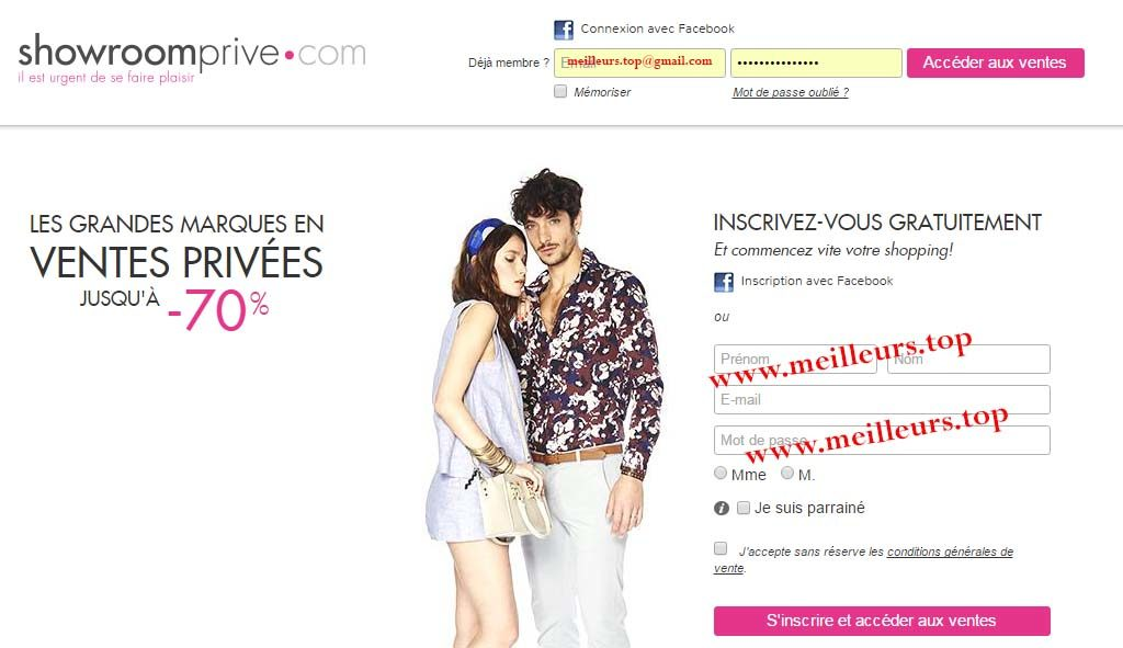 showrooprive meilleurs sites de vente