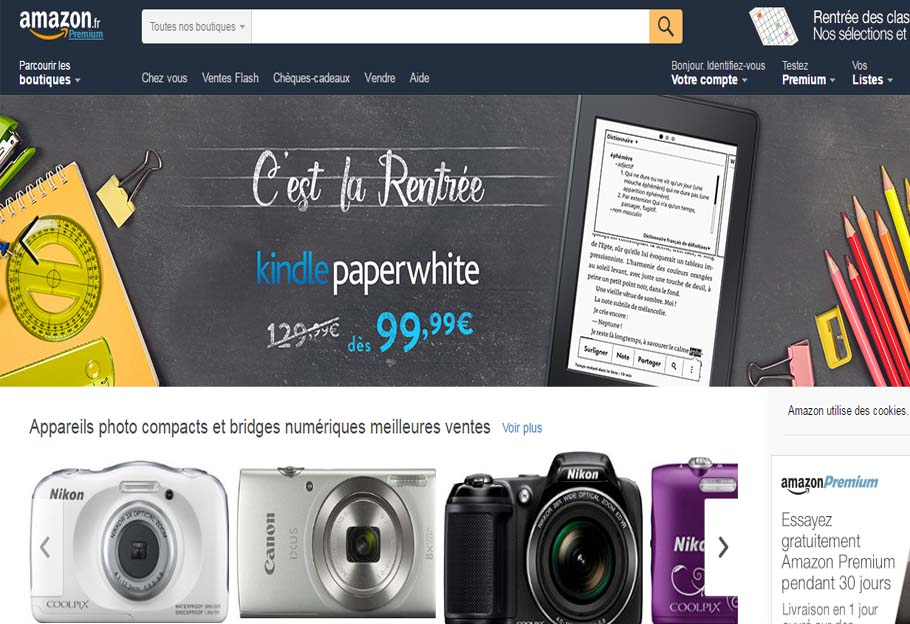 site amazon en français