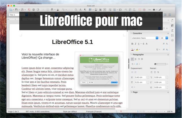 LibreOffice pour Mac
