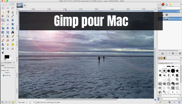 télécharger GIMP sur Mac