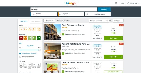 réservation d'hôtels en ligne