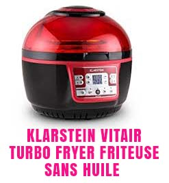 Klarstein VitAir Turbo Fryer Friteuse sans huile à air chaud