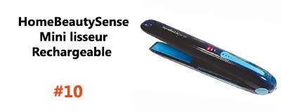 HomeBeautySense Mini lisseur Rechargeable