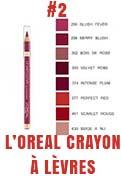 'oreal crayon pour les lèvres