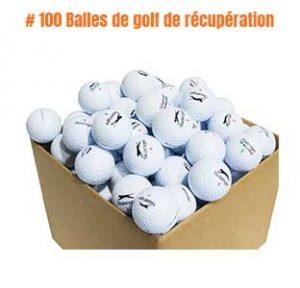 100 Balles de golf de récupération