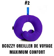 Bcozzy oreiller de voyage maximum confort