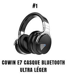 Cowin E7 casque Bluetooth ultra léger