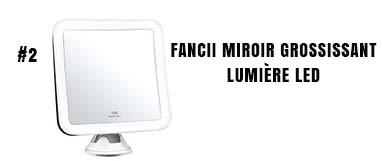 Fancii miroir grossissant avec lumière LED