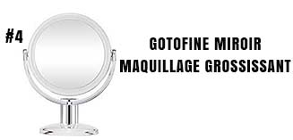 Gotofine miroir de maquillage grossissant
