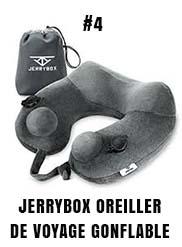 Jerrybox oreiller de voyage gonflable