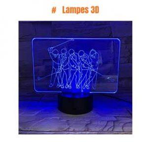 Lampes 3D golf