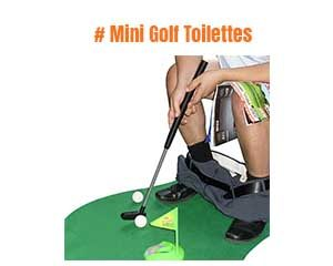 cadeau humoristique Mini Golf Toilettes