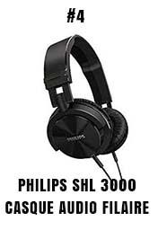 Philips SHL 3000 casque audio filaire