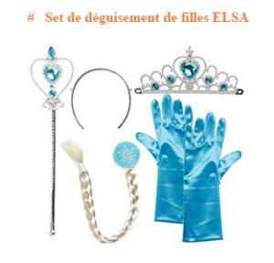 Set de déguisement de filles Elsa