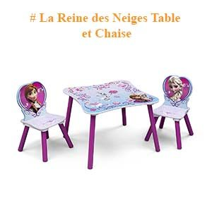 Table et Chaise La reine des neiges