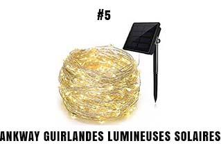 Ankway guirlandes lumineuses solaires à petit prix