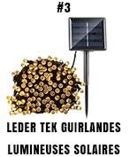 Leder Tek guirlandes lumineuses solaires décoratives