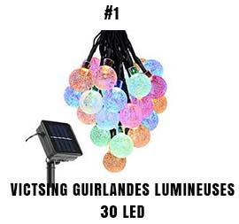Victsing guirlandes lumineuses d'exterieur 30 LED