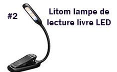 Litom lampe de lecture livre LED