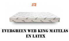 Evergreen Web King Matelas en Latex
