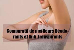 comparatif de meilleurs deodorant et anti transpirant