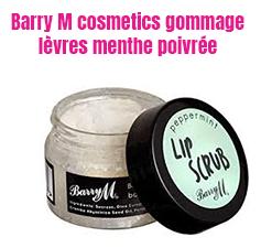 Barry M cosmetics gommage lèvres menthe poivrée: