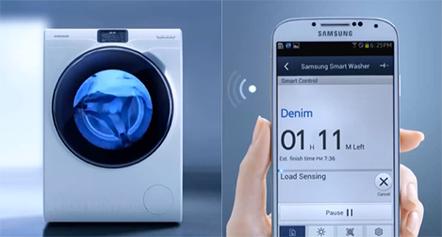 machine à laver samsung blue connectée