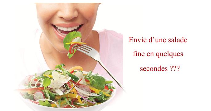 dégustez la bonne salade en julienne et les tranches fines de fromages
