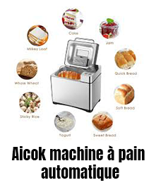 Aicok machine à pain automatique