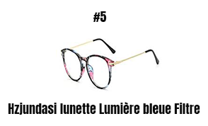 Hzjundasi lunette Lumière bleue Filtre