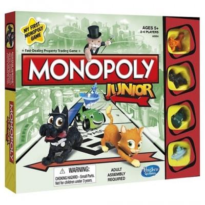 monopoly junior pour enfants - hasbro