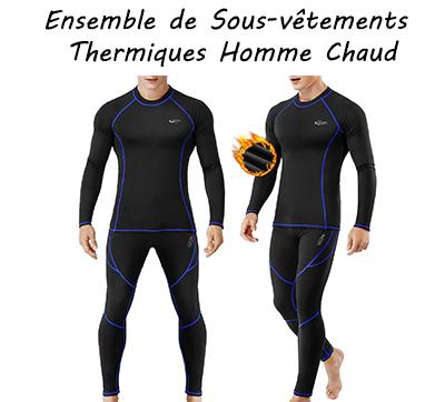 Ensemble de Sous-vêtements Thermiques Homme Léger et Chaud