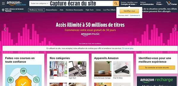amazon vente en ligne