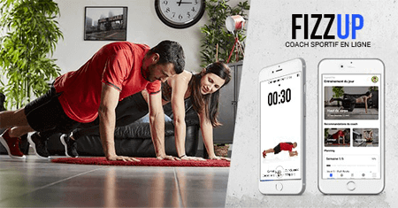Application de sport FizzUp: Enrênement gratuit à domicile