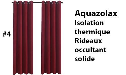 Aquazolax Isolation thermique Rideaux occultant solide