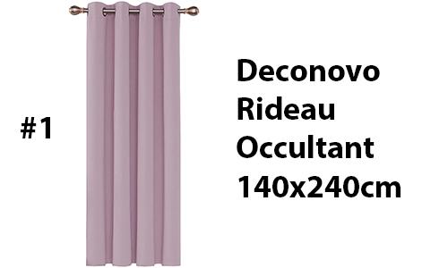 top rideau isolant thermique Deconovo 140*240