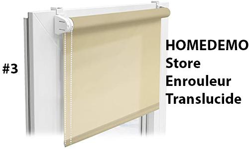 HOMEDEMO Store Enrouleur Translucide