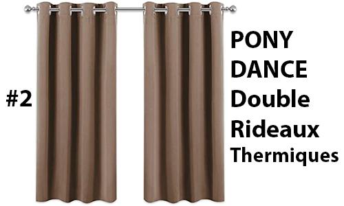 pony dance double rideau thermique