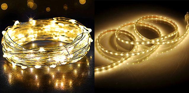 Quelle différence entre un ruban lumineux et une guirlande lumineuse ?