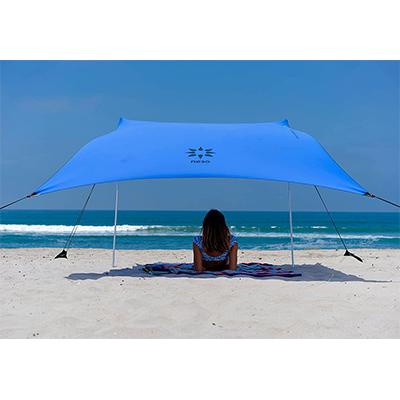 Tente de plage avec ancre de sable